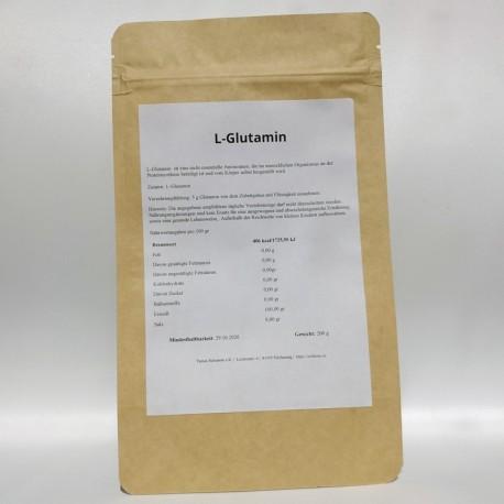 L-Glutamine Pulver, 100% rein - 100 und 200 gr