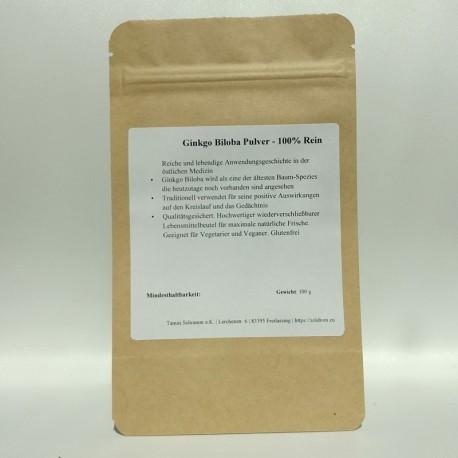 Ginkgo-biloba Pulver, rein - 100-200-300 gr