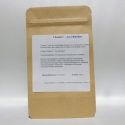 Vitamin C, Ascorbinsäure Pulver - 100 gr