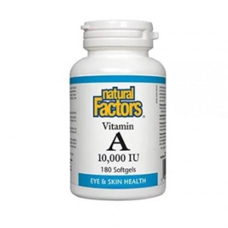 Natural Factors Vitamin A 10.000IU 180 Softgels