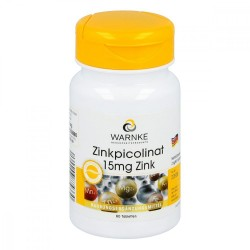 Zink Pikolinat 15 mg 60 Tabletten Vegan, organisch, Hefefrei, Lactosefrei, Glutanfrei, Gelatinfrei