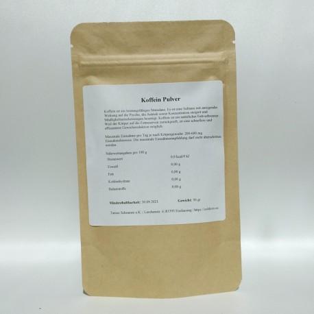 Koffein Pulver - 100% rein 50 gr - 100 gr