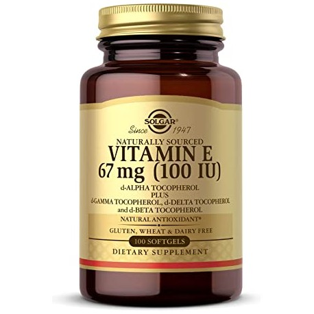 Vitamin E 100IU 100 Kapseln mit 4 gemischte Tocopherole