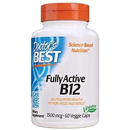 Vitamin B12, voll aktiviertes 1500 mcg 60 Kapseln