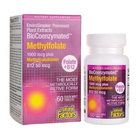 Methylfolat und Methylcobalamin 1000-1000 mcg