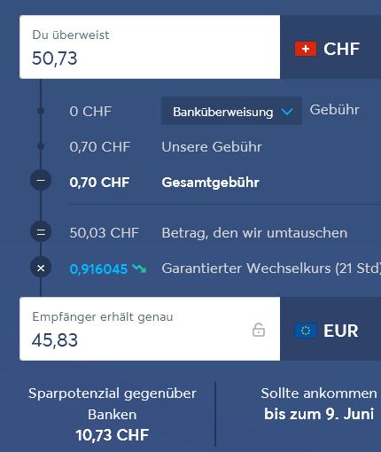CHR Euro Zahlung